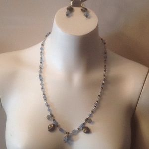Just a Dust of Blue Earrings and Necklace Set